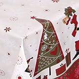 WACHSTUCH TISCHDECKE abwischbar Meterware, Größe wählbar, 180x140 cm, Glatt Weihnachten Bescherung