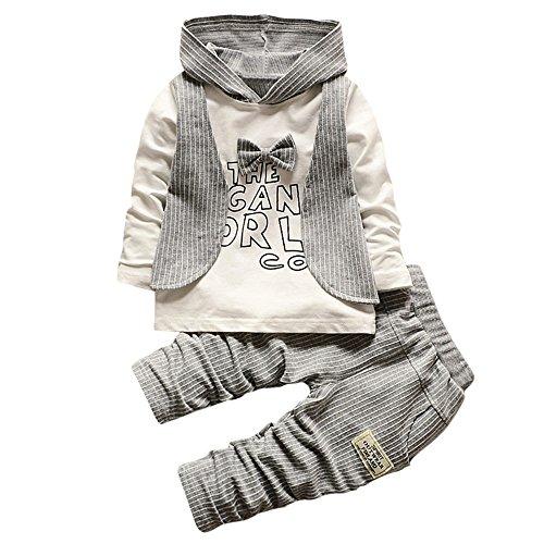 OSYARD Baby Kleidung Satz, Neugeboren Babykleidung Säugling Baby Junge Streifen Brief Drucken...
