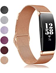 VICARA Compatible for Fitbit Inspire and Inspire HR Band,Metal Band Replacement Stainless Steel Strap for Fitbit Inspire/Inspire HR Men Women
