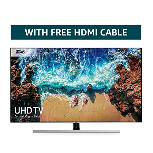 Samsung 75NU8000 75-Inch Dynamic Crystal Colour Ultra HD Smart 4K TV - Slate Black/Eclipse Silver (2018 Model) + FREE Amazon High-Speed 0.9M HDMI 2.0 cable