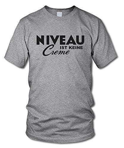 shirtloge - NIVEAU ist keine CREME - Kult T-Shirt - in verschiedenen Farben - Größe S - XXL Grau-Meliert (Schwarz)