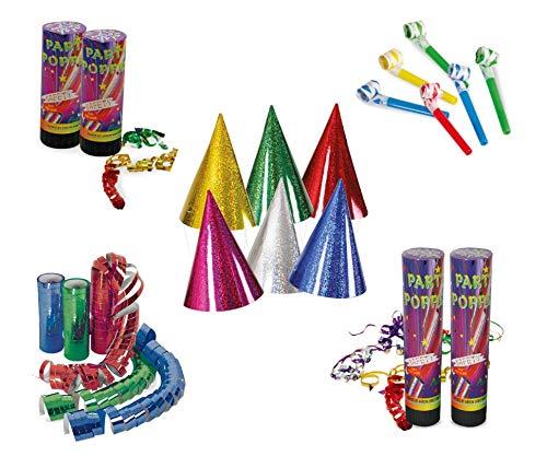 KarnevalsTeufel Party - Set, Dekoration   Hüte, Luftschlangen, Tröten, Konfetti-Kanone   Karneval, Geburtstag, Mottoparty