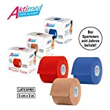 Aktimed Tape CLASSIC - Physio-Tapes für kinesiologisches Taping | Kinesiologisches Tape | Hochelastisch | Atmungsaktiv & hautfreundlich |Latexfrei | 5 cm x 5 m