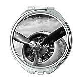 Yanteng Flugzeug, Spiegel, Compact Mirror, Jagdbomber, Taschenspiegel, tragbarer Spiegel