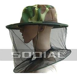 SODIAL(R) Mascarilla Sombrero Patron de Camuflaje para Apicultura Apicultor