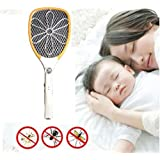 PEony Rechargeable Electric Insect Killer Mosquito Racket For Mosquito & Insect Free Homes Premium Mosquito Killer Swatter Rechargeable Electric Insect Killer Racket, Zapper Bat With Tourch