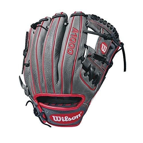 WILSON Herren 2018A10001786Glove-Right Hand werfen, grau/rot, 29,2cm