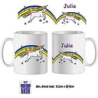 Texti-cadeaux-Mug Licorne-personnalisé avec un prénom exemple Julie
