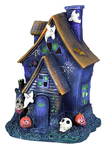 Ciao 31025-Casita Halloween de cerámica con luz, modelos surtidos