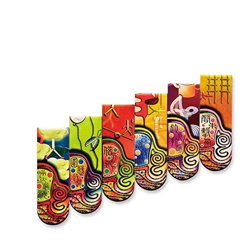 FKYNB Segnalibri Creativi, Prodotti Artistici, Segnalibri Magnetici, Regali Di Arte Creativa In Stile Cinese, Segnalibri Magnetici, Porta una meravigliosa esperienza di lettura. (Color : A1)