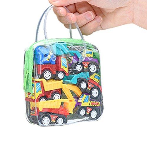 Kinder Simulation Bildung anhänger Spielzeug faul LKW Kinder Racing Puzzle Spielzeug Hobby lustige Dekoration Geschenke Kinder Stadt (Set - Engineering Fahrzeug 6)