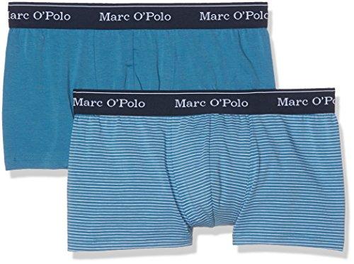 Marc O'Polo Body & Beach Herren Boxershorts Shorts 2-Pack, 2 Blau (Blau 800)