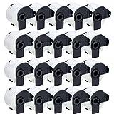 UCI 20x Endlos-Etiketten kompatibel für Brother DK-22205 (62mm x 30.48m) P-Touch QL-500, QL-500BS, QL-500BW, QL-550, QL-560, QL-560VP, QL-560YX, QL-570, QL-580, QL-580N, QL-650TD, QL-700, QL-710W, QL-720NW, QL-1050, QL-1050N, QL-1060N
