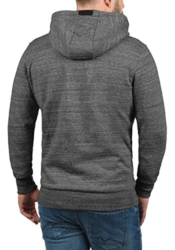SOLID Obito Herren Sweatjacke Kapuzen-Jacke Zip-Hoodie aus einer hochwertigen Baumwollmischung Meliert Grey Melange (8236)