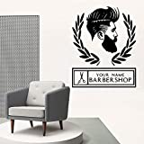 Bunten Friseur Haus Dekoration Wandkunst Applique Mode Aufkleber Friseur Wandbild Kommerziellen...