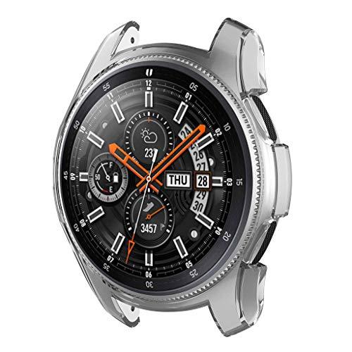 fang FANS Glass Screen Case displayschutz All-Around Schutzhülle Ultra-Slim Stoßfest Schutz für Samsung Galaxy Watch Active (White)