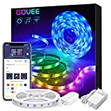 Govee Alexa LED Strip Lichtband, 5M RGB Smart WiFi LED Streifen,APP Steuerbar Musik LED Band Lichterkette für...
