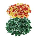 Sharplace 500 Stücke Glasmosaik Fliesen Für Mosaik Machen DIY Handwerk Grün Rot Gelb