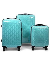 MasterGear - Valise bagage à main/cabine Design mobiles et ultra légères - 4 roulettes (360 °) - Coque rigide, ABS, cadenas à combinaison, emboîtables - tailles S - Plusieurs coloris disponibles