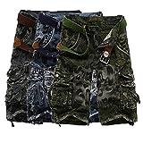 Hommes Occasionnels Coton Salopettes De Camouflage Combat De L'Armee De Poches Cargo Short Pants