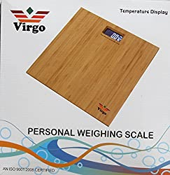 Weightrolux Wooden Platform Digital Personal Bathroom Weighing Scale - 150Kg (Set Of 2)