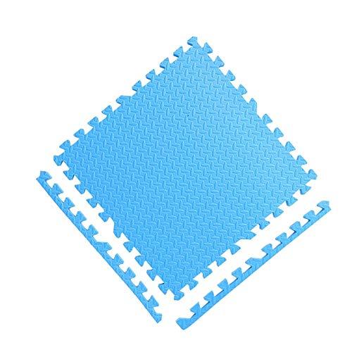 JIAJUAN-Puzzlematte Baby Groß Ineinandergreifend Bunt Kinder Weich Schaum Matten Innen- rutschfest Quadrat Puzzle Fliesen Matte, 9 Farben (Color : Blue, Size : 60x60x1.2 cm-9 Pcs) (X 8 8 Quadrat Fliese)