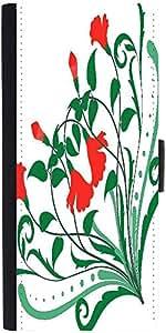 Snoogg Corner Floral Designsdesigner Protective Flip Case Cover For Samsung G...
