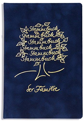 Stammbuch der Familie -Bero-, Familienstammbuch, Dunkelblau, Velours, Goldprägung, Ringmechanik, Stammbücher