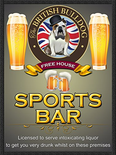 frei House Sports Bar Retro Metall Zinn Wandplakette/Schild Neuheit Geschenk Home Bar ()