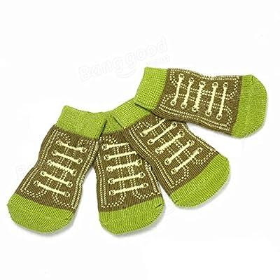 Saver Grüner Schuh-Form Baumwolle breathable Beleg-Resistant Haustier Socken von 365 Saver auf Gartenmöbel von Du und Dein Garten