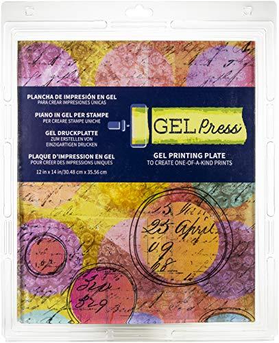 """Gel Press - PolyGel-Presse - Druckplatte aus Gel - wiederverwendbar - 12"""" x 14"""" (30,5 x 35,6 cm)"""