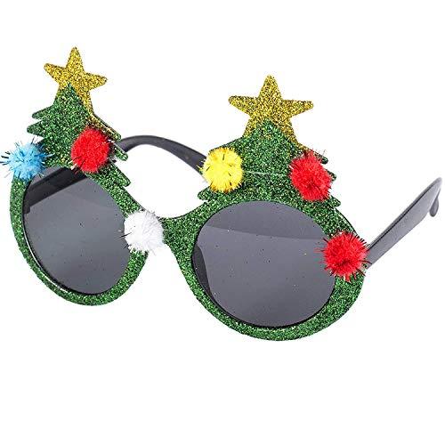 WEIHNACHTEN NEUHEIT GLÄSER - PARTY WEIHNACHTEN GLÄSER WEIHNACHTSPUDDING WEIHNACHTSBAUM ROT WEIHNACHTSMANN - Grün Weihnachtsbaum Gläser, 100 % Baumwolle / Jersey, Herren, Einheitsgröße, One Size