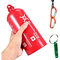 Botellas De Combustible Vacías 750 Ml / 500 Ml / 1000 Ml / 1500 Ml - Aleación De Aluminio Botella Almacenamiento Combustible Líquido Picnic Gasolina A Prueba De Explosiones Al Aire Libre,1000Ml