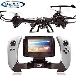 s-idee® 01608 - Droncuadricóptero, UDI U842-1 FPV, 5,8GHz de Transferencia, Cámara HD, u842,4,5Canales 2,4GHz, con Tecnología de giroscopio, WiFi FPV