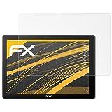 atFolix Panzerfolie kompatibel mit Acer Switch 5 Schutzfolie, entspiegelnde & stoßdämpfende FX Folie (2X)