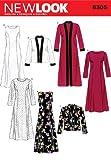 New Look 6305 - Cartamodello per abiti donna, taglie dalla 42 alla 54
