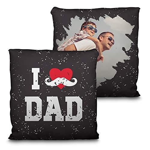 Cuscino per papà personalizzato con la tua foto. dimensioni 35x35cm. vari disegni festa del papà regalo originale ed esclusivo. happy dad