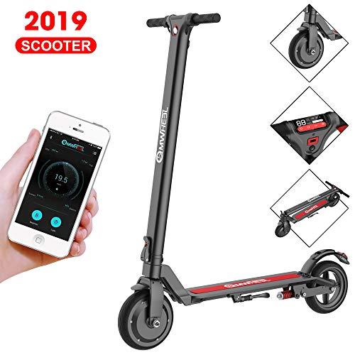 APP Scooter électrique adulte, Écran LCD, Régulateur de vitesse, Longue portée 30KM, Réglable à 3 vitesses, moteurs haute puissance 350w,Tricycle électrique pliant en 3 secondes pour les adolescents