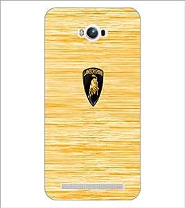 PrintDhaba Logo D-5530 Back Case Cover for ASUS ZENFONE MAX ZC550KL (Multi-Coloured)