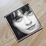 ZOOEY DESCHANEL - Original Art Coaster #js002 by Coasters - Actresses