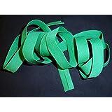 Biais Uni Couleur VERT 20 mm plié (38 mm déplié) (X 2 Mètres) Couture Accessoire pour Finitions Tissu Créations Polyester Ruban de Biais pour Travaux Manuels par 2 mètres