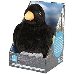 Ravensden felpa cantando pajarera de aves RSPB Razón mirlo