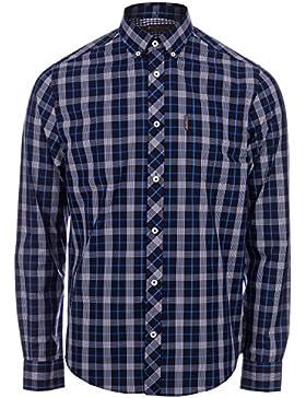 Ben Sherman -  Camicia Casual  - A quadri - Con bottoni  - Maniche lunghe  - Uomo