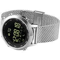 Kxcd Bluetooth Smart Watch Ex18Bluetooth 4.0Smart Watch 5ATM étanche Compatible avec Android iOS Système Smartwatch podomètre Bain pour Moniteur de Sommeil Appel SMS Rappel Montre Bracelet.