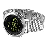 KXCD smart watch, Activity Tracker Watch for iPhone Android Smartphone (stainless steel)