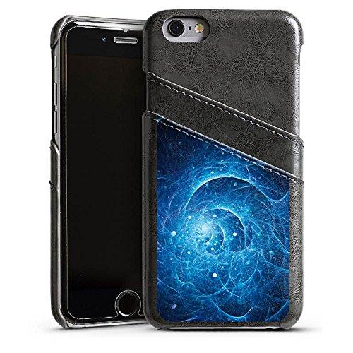Apple iPhone 5s Housse Étui Protection Coque Électricité Galaxie Galaxie Étui en cuir gris