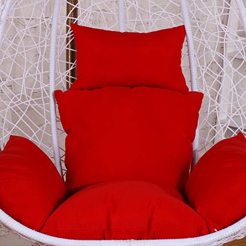 Lovehouse cuscino sedia amaca da uovo, swing imbottitura spessa cuscino trapuntato thick a dondolo cuscino sedie con cuscino e le braccia-rosso