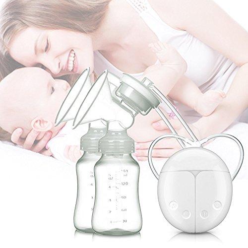 Silaite Brust Pumpe elektrische doppelte Brust Pumpen Safe Milch Lagerung Flasche duale Kontrolle Milch saugen und Brust-Massage Brust-Pflege USB-Aufladung (2-stufen-pumpe Vakuum)