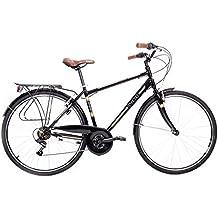 """Bicicleta urbana - Bici de paseo Cloot Tennessee Cambio Shimano de 18 velocidades, llantas de 28"""", portabultos, Talla: (De 1,68 a 1,85)"""