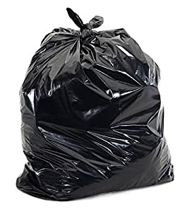 VIBHU Plastic Dustbin Bags (20x26-inch, Black) - Pack of 50